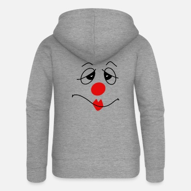 Nose Clown with red nose carnival - Women's Premium Zip Hoodie