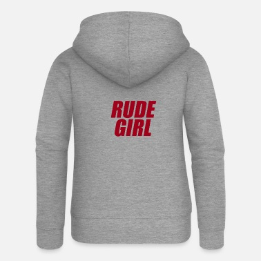 Rude Girl Rude girl red - Women's Premium Zip Hoodie