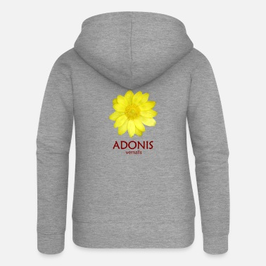 Adonis Adonis vernalis / Adonis flower / rarely beautiful - Women's Premium Zip Hoodie