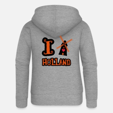 Holland i_love_holland_2 - Frauen Premium Kapuzenjacke