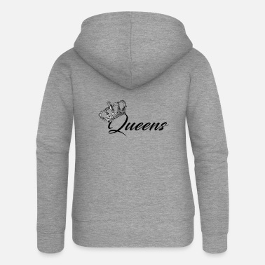 Queen Queens (King and Queen) - Women's Premium Zip Hoodie