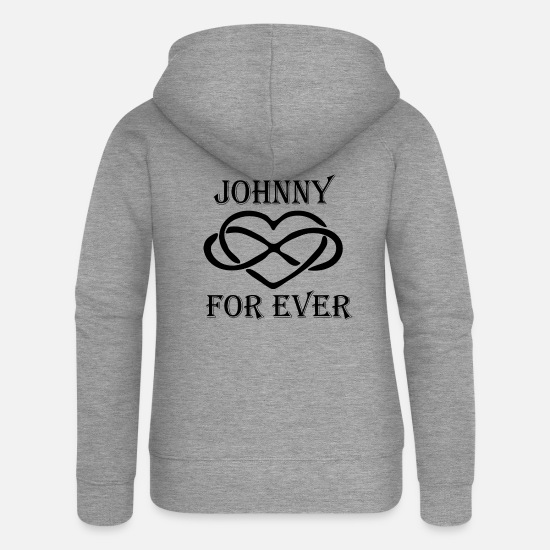 Johnny Sweat-shirts - johnny - Veste à capuche premium Femme gris chiné