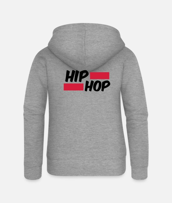 Rap Hoodies & Sweatshirts - Hip Hip Oldschool Rap Gift - Women's Premium Zip Hoodie heather grey