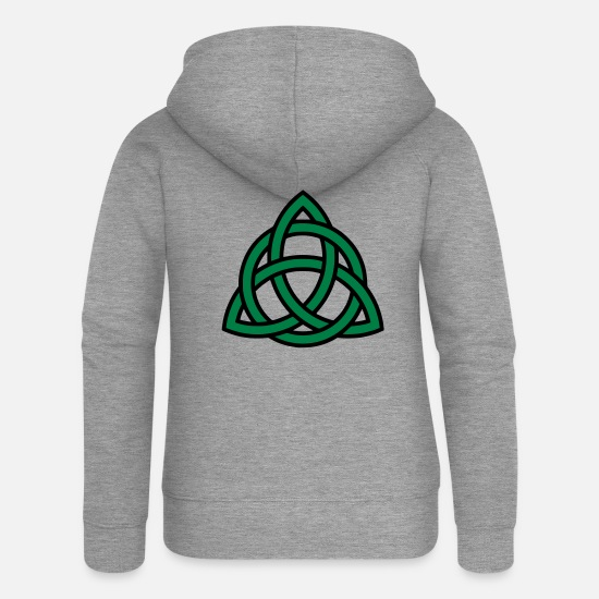 St Hoodies & Sweatshirts - Celtic knot - Women's Premium Zip Hoodie heather grey