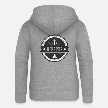 Hipster hipster hipster - Premium zip hoodie dam