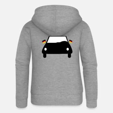 Wm Germany car WM WM WM WM WM WM WM WM WM WM GER - Women's Premium Zip Hoodie