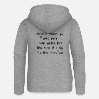 Cool t-shirts for women and men with a dog - Women's Premium Zip Hoodie