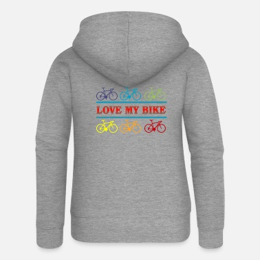 Bike Love my Bike - Frauen Premium Kapuzenjacke