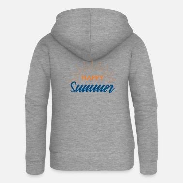 Summer Summer Happy Summer Festival Music Gift - Women's Premium Zip Hoodie