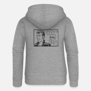 Comics comic - Women's Premium Zip Hoodie