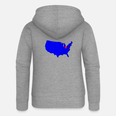 State State of Ohio Location - Women's Premium Zip Hoodie