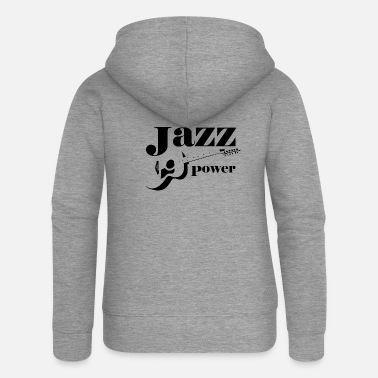 Jazz jazz_power_design - Felpa con zip premium donna