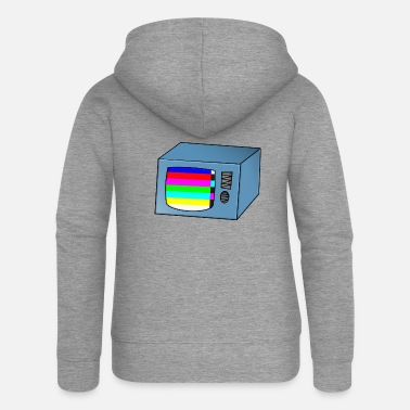 Tv TV TV TV with error - Women's Premium Zip Hoodie