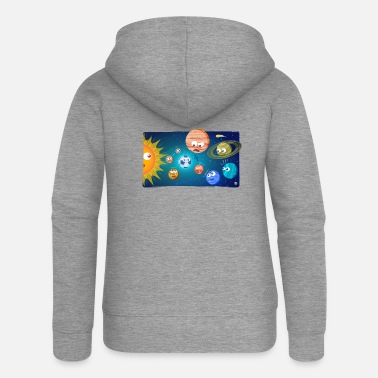Football-mad Football solar system - Women's Premium Zip Hoodie