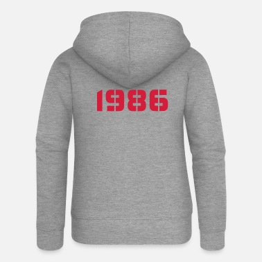 Birth Year Born In - Made in 1986 - Women's Premium Zip Hoodie