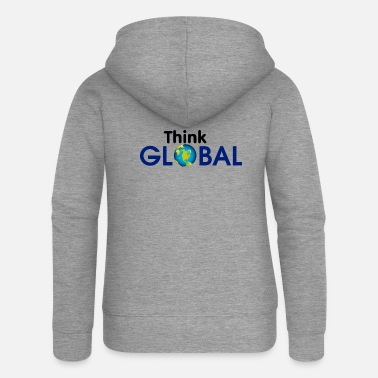 Global Think Global / global - Women's Premium Zip Hoodie