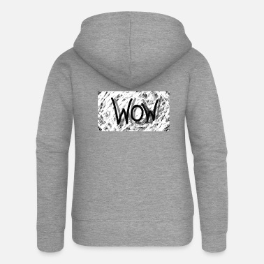 Logo Spreadshirt WOW - Women's Premium Zip Hoodie