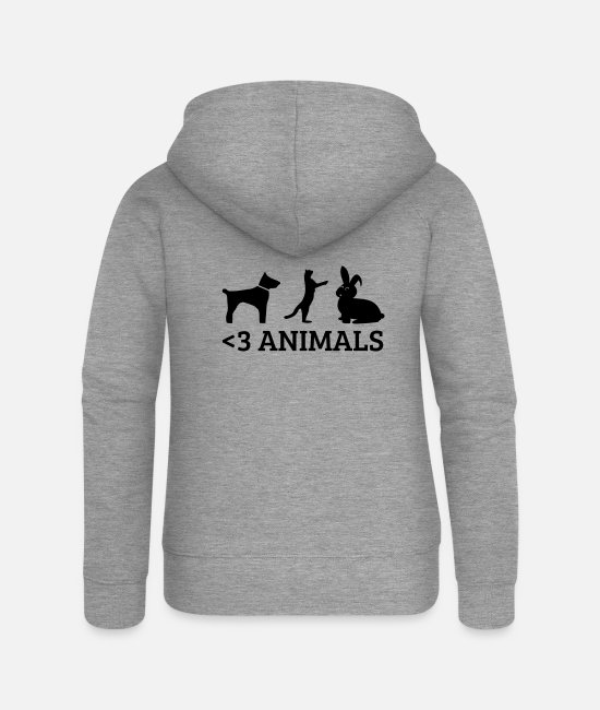 Love Hoodies & Sweatshirts - Love animals - Women's Premium Zip Hoodie heather grey