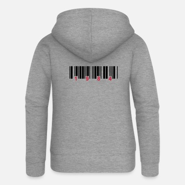 Provocation barcode 1984 - Women's Premium Zip Hoodie