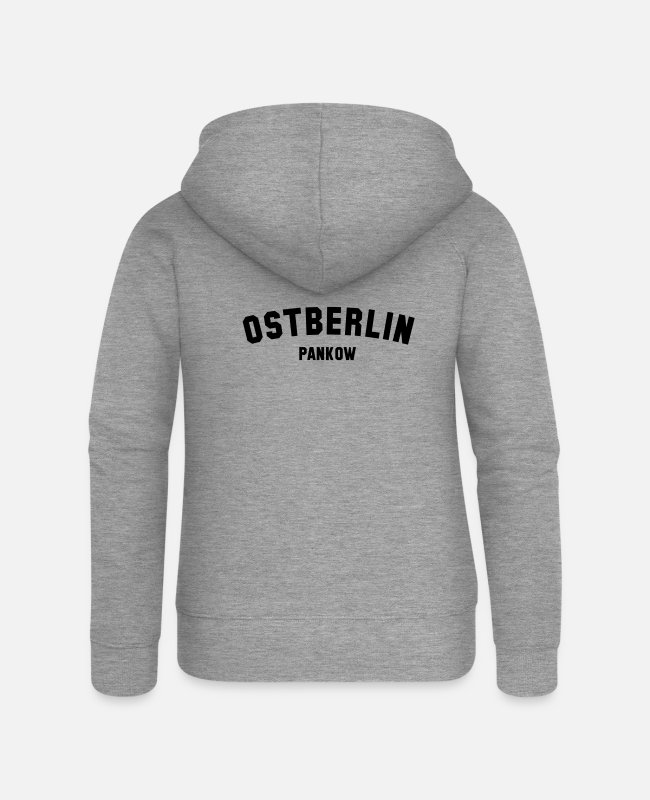 GDR Hoodies & Sweatshirts - PANKOW - Women's Premium Zip Hoodie heather grey