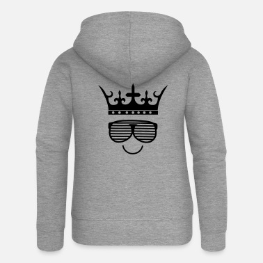 Funny king face smile 01 - Women's Premium Zip Hoodie