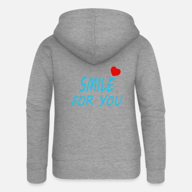 Lettering Smile for you - Women's Premium Zip Hoodie