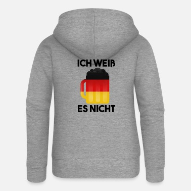 Deutschland Ich Weiß Es Nicht Design for German Teacher - Women's Premium Zip Hoodie