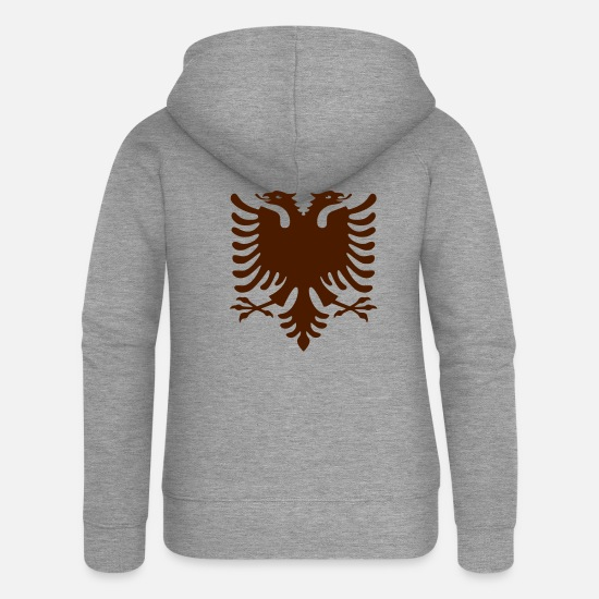 Albanian Eagle Hoodies & Sweatshirts - Albania/Shqiponja - Women's Premium Zip Hoodie heather grey