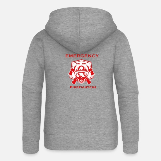Fire Fighter Hoodies & Sweatshirts - Emergency Firefights - Fire Department - Women's Premium Zip Hoodie heather grey