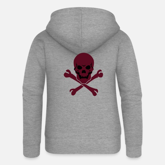 Kilgore Hoodies & Sweatshirts - Skull - Women's Premium Zip Hoodie heather grey