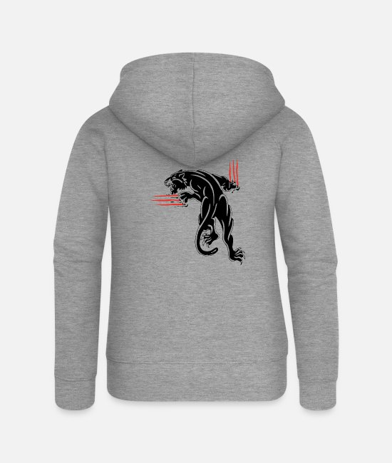 Biology Hoodies & Sweatshirts - animal scratches - Women's Premium Zip Hoodie heather grey