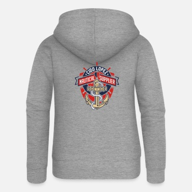 Graphic Art Nautical Graphic Art - Women's Premium Zip Hoodie