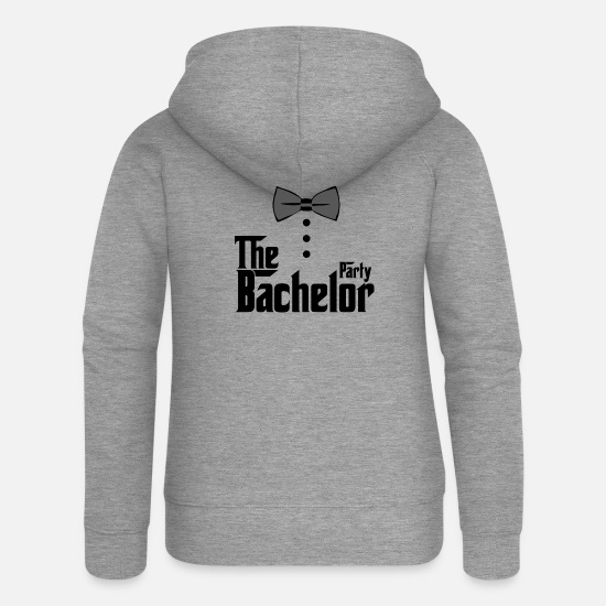 Party Hoodies & Sweatshirts - The Bachelor Party Bachelor Party polterer - Women's Premium Zip Hoodie heather grey