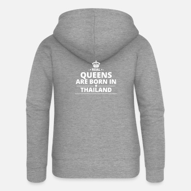 Thailand LOVE GIFT queensborn in THAILAND - Women's Premium Zip Hoodie