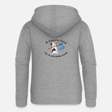 Dogowner Hiking Dogowner Dog Backpacker Nature Pet Love - Women's Premium Zip Hoodie