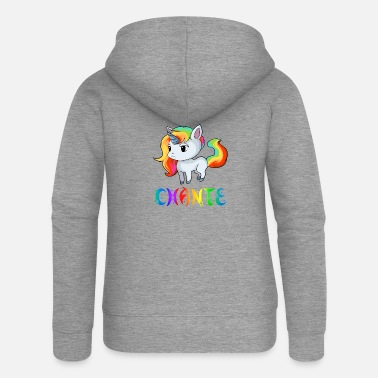 Chant Unicorn Chante - Women's Premium Zip Hoodie