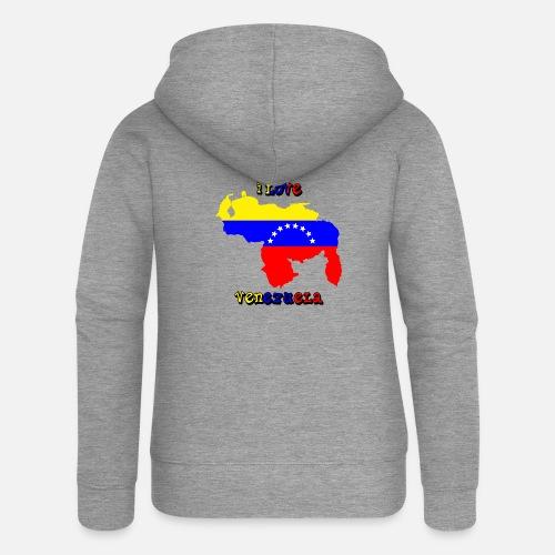 I love venezuela (yo amo a Venezuela) Chaqueta con capucha premium ... 33c3f7da384c