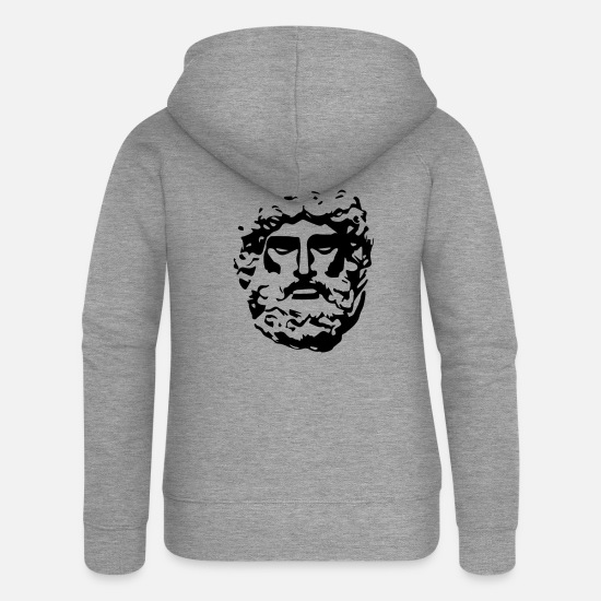 Rome Sweat-shirts - Antique - Veste à capuche premium Femme gris chiné