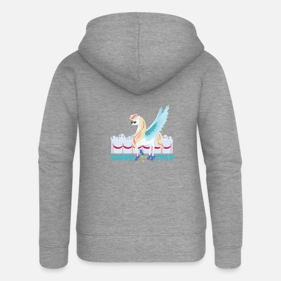 Birthday Hoodies & Sweatshirts - Unicorn Superstar / Unicorn - Women's Premium Zip Hoodie heather grey