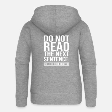 Funny Sayings Lustiger Spruch - Women's Premium Hooded Jacket
