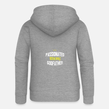 Distressed - PASSIONATED FENCING GODFATHER - Women's Premium Zip Hoodie