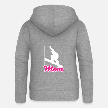 Sporty Sport sporty christmas gift snowboard mom - Women's Premium Hooded Jacket