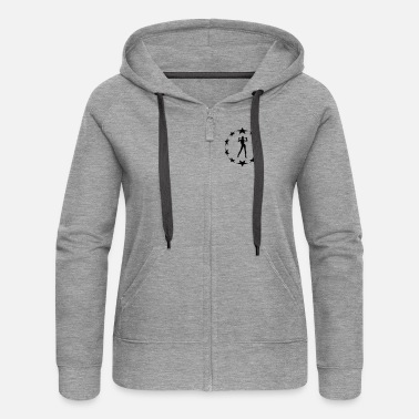 Circle Underwear stars wreath special - Women's Premium Zip Hoodie