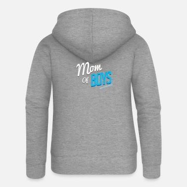 Mom of Boys Mothers Day Gift - Women's Premium Zip Hoodie