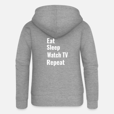 Watch Tv watch TV - Women's Premium Zip Hoodie