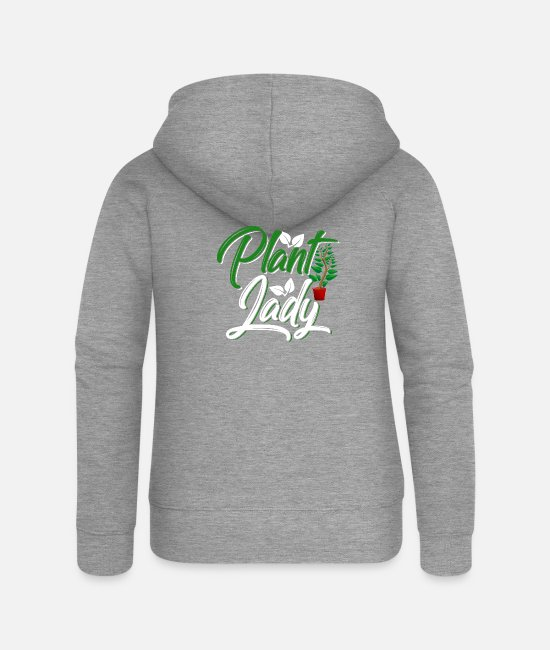 Just Plants Hoodies & Sweatshirts - Plant Lady - Women's Premium Zip Hoodie heather grey
