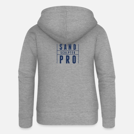 Gift Idea Hoodies & Sweatshirts - Forming sand - Women's Premium Zip Hoodie heather grey