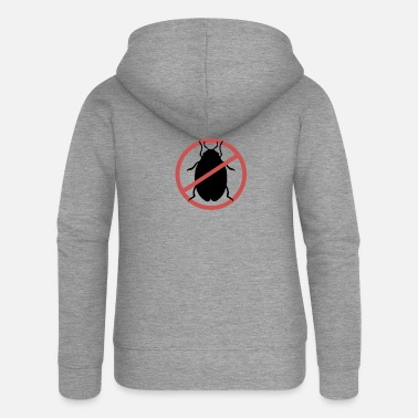 Travel Bug No Bed Bugs | Bed bugs banned bed bug travel - Women's Premium Zip Hoodie
