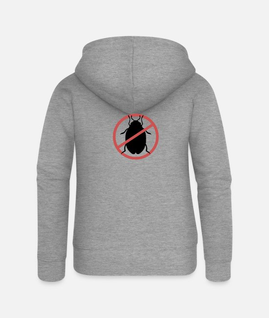 Travel Bug Hoodies & Sweatshirts - No Bed Bugs | Bed bugs banned bed bug travel - Women's Premium Zip Hoodie heather grey