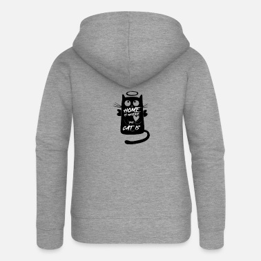 a cat's friend - Women's Premium Zip Hoodie